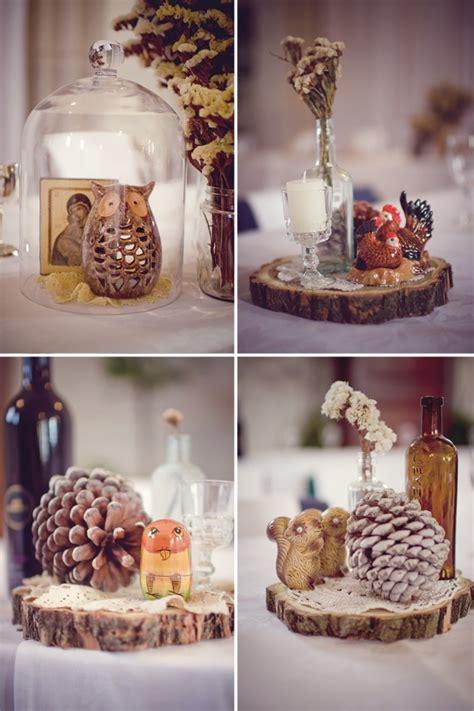 woodland table decorations wedding themes wedding table