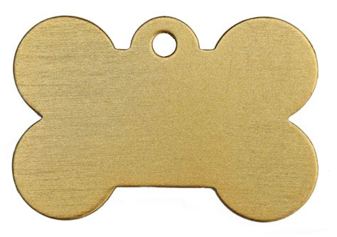 collar tags large gold bone id tag classic