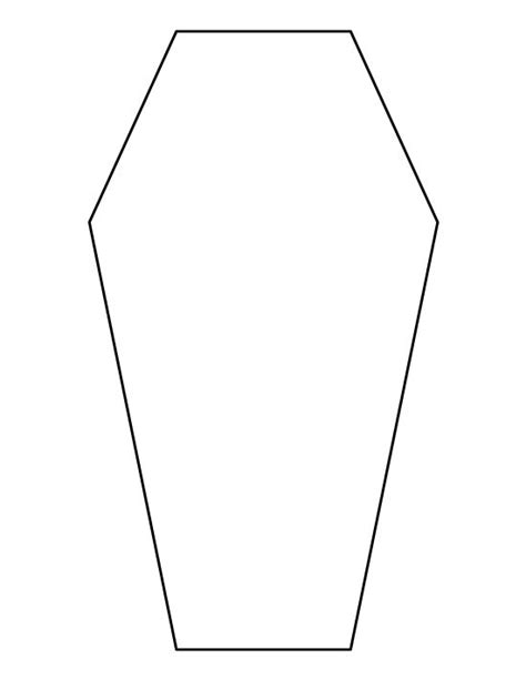 coffin pattern use the printable outline for crafts