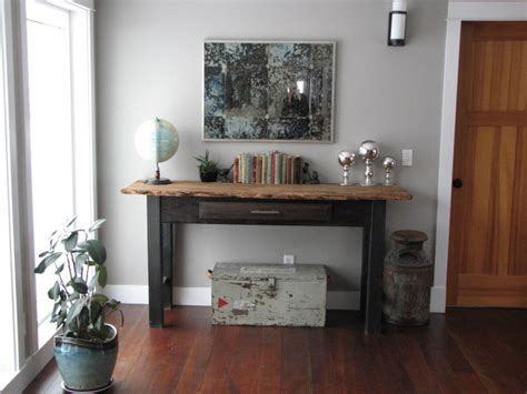 living room console console table mirror vignette eclectic living room