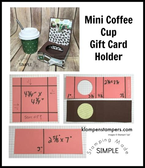 coffee cup gift card holder template mini coffee cup gift card holder klompen sters
