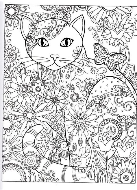 kitten coloring pages for adults cat abstract doodle zentangle coloring pages colouring