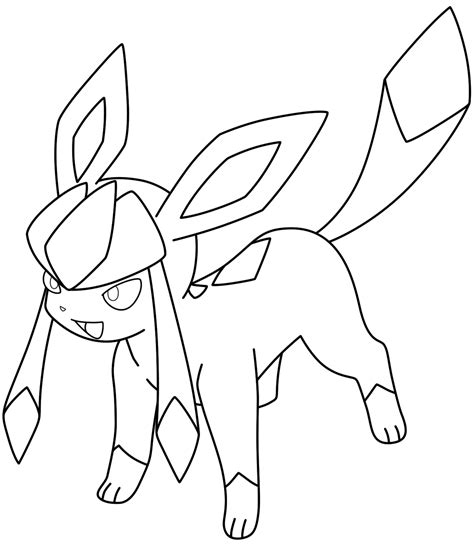Glaceon Coloring Pages lineart glaceon by kizarin on deviantart