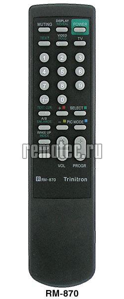 Remot Remote Tv Sony Tabung Trinitron Rm 870 Kw Perangkat Elektronik пульт sony rm 870