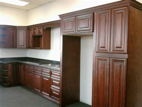 mahogany colored maple kitchen cabinets