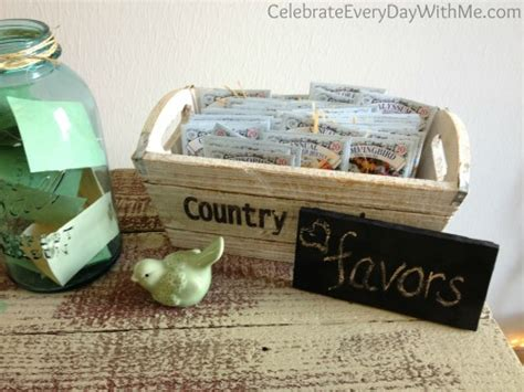 country themed bridal shower favors country bridal shower ideas celebrate every day with me