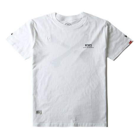 T Shirt Wtaps wtaps bone crewneck t shirt white