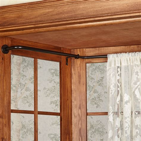 window curtain poles curtains for bay window bukit