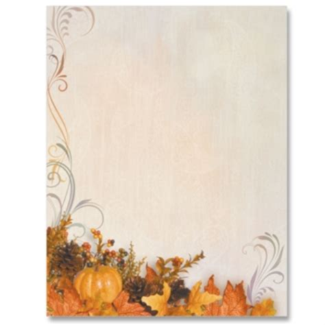 printable autumn stationery 7 best images of fall free printable paper borders free