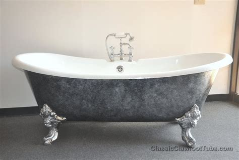 71 quot cast iron ended slipper clawfoot tub w imperial