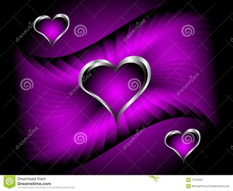 a purple hearts valentines day background stock vector
