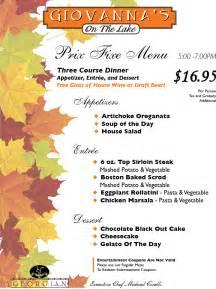 fall menus georgian resort