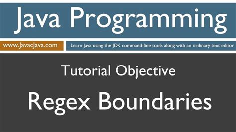 regex pattern in c learn java programming regex boundaries tutorial learn