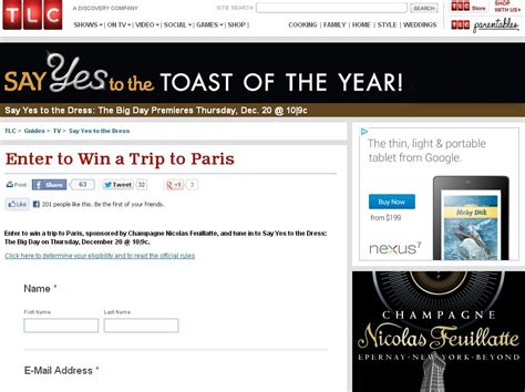 Say Yes To The Dress Sweepstakes - tlc s say yes to the dress win a trip to paris sweepstakes