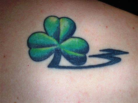 shamrock tattoo four leaf clover tattoos