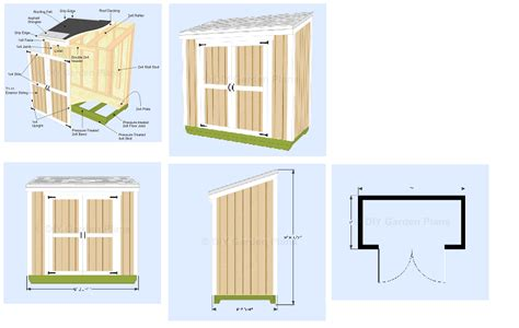 4 X 8 Lean To Shed by Small 4x8 Lean To Shed Plans For Storage Or Garden 4
