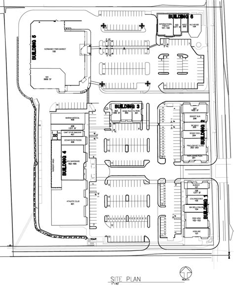 website build plan site plan normandy park towne center