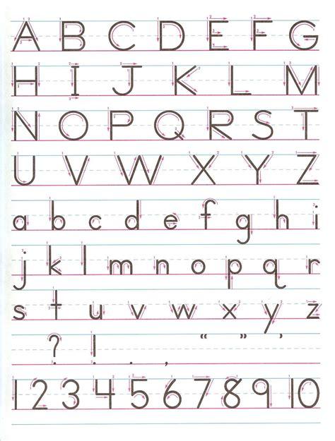 printable alphabet exercise zaner bloser handwriting chart printable zaner bloser