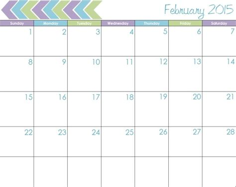 free february 2015 calendar template best photos of 2015 calendar to write on printable