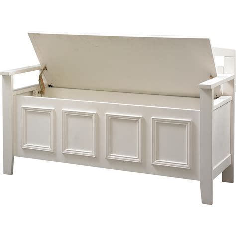 White Storage Bench White Wood Storage Bench Practical And Doubled Functional Storage Solution Homesfeed