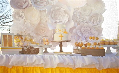 yellow themed  communion styled photoshoot