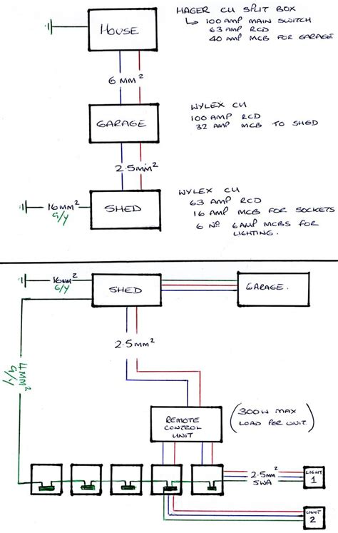 another garage to shed wiring question diynot forums