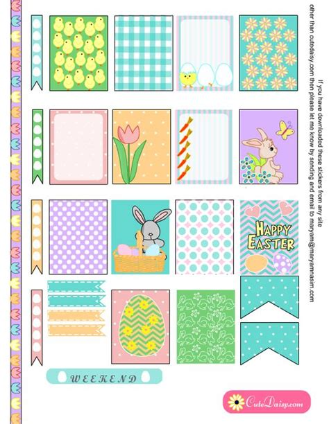 printables for erin condren life planner free printable easter stickers for erin condren life