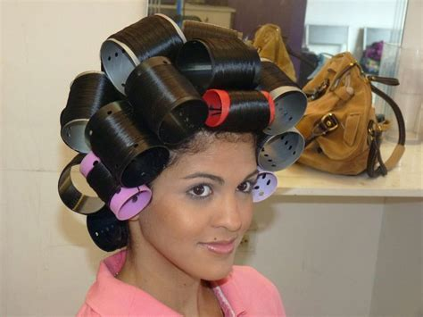 the trick to roller setting wet hair dominican blowout 322 best images about salons curlers on pinterest