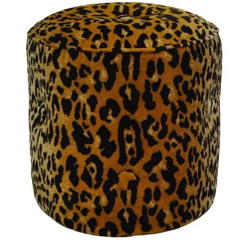 Cheetah Print Ottoman Elsie Tabouret Animal Print Ottoman Or Stool By Tony Duquette For Baker No 1697 At 1stdibs
