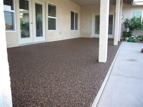 pebble epoxy patio flooring outdoor ideas pinterest