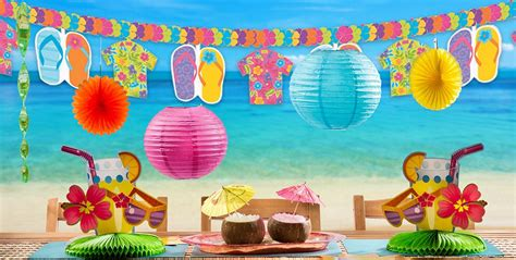 beach themed party kit summer splash party supplies party city