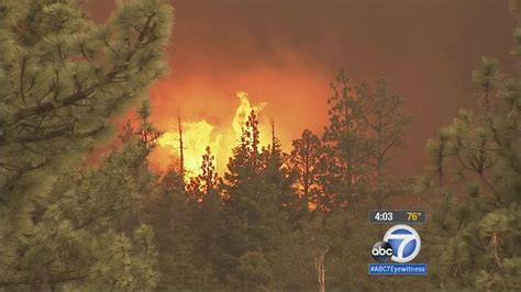San Bernardino Fireplace by Lake Scorches 13 000 Acres In Remote Area Of San