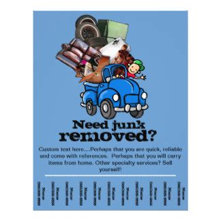 Cleaning Service Promotional Flyers Cleaning Service Promotional Flyer Templates Junk Removal Flyer Template