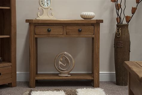 Rustic Hallway Table Tilson Solid Rustic Oak Furniture Hallway Console Table Ebay