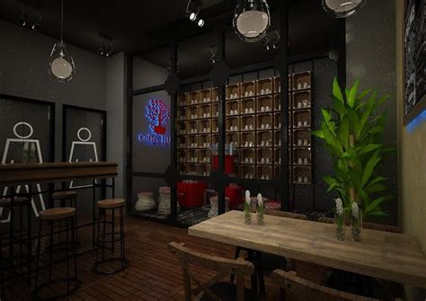 coffee shop design competition 3d render and interior design for coffee shop freelancer