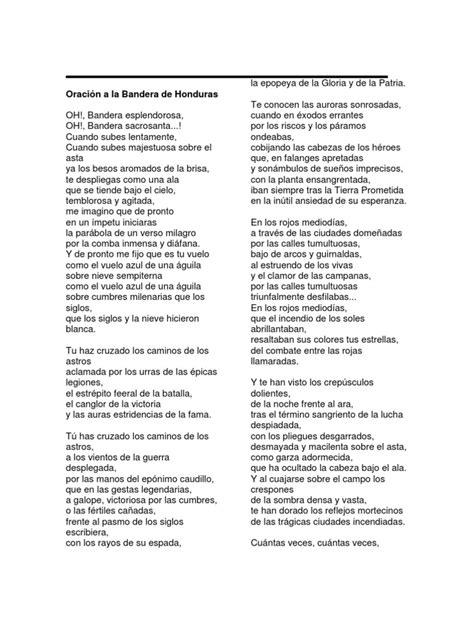 oraciones de la bandera oraci 243 n a la bandera de honduras nicaragua costarica