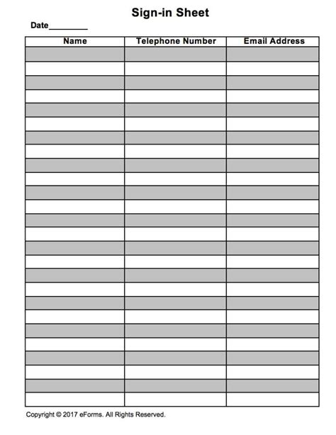 idea sheet template docs sign in sheet template best template idea