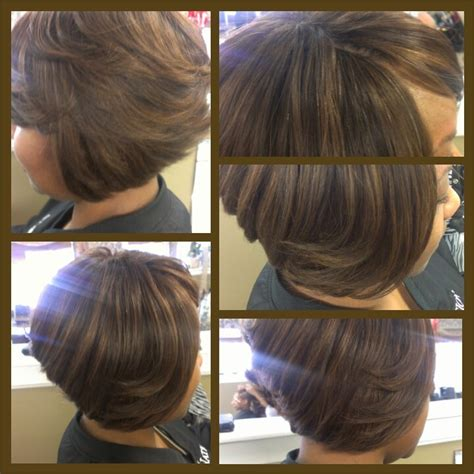 bob with partial weave styles invisible part sew in weave hairstyles images rachael