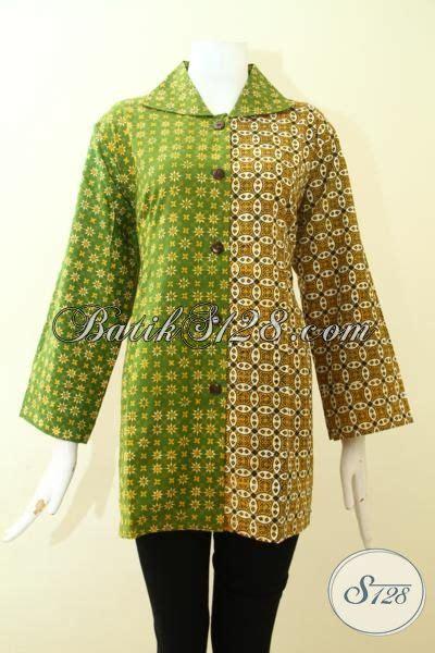 Baju Batik Cantik Elegan trend baju batik wanita muda til cantik dan dan elegan blus batik dual motif kombinasi warna