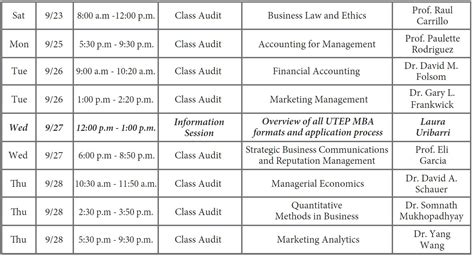 Utep Mba Gmat by Events Utep Mba Business