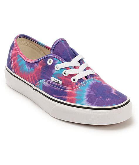 tie dye shoes vans authentic purple tie dye shoes womens at zumiez pdp