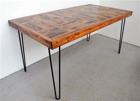 diy wood dining table legs diy pallet wood dining table with steel legs 101 pallets