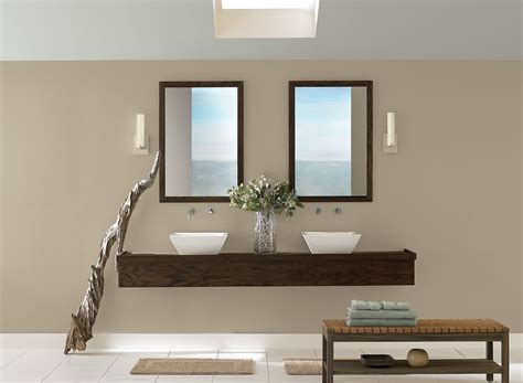 best neutral sand beige paint colors for modern bathroom with wall sconces artenzo