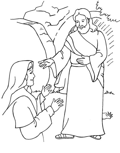 easter sunday coloring page