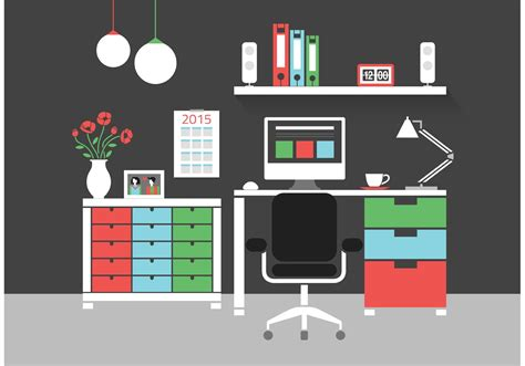 home interior vector free modern home office interior vector icons