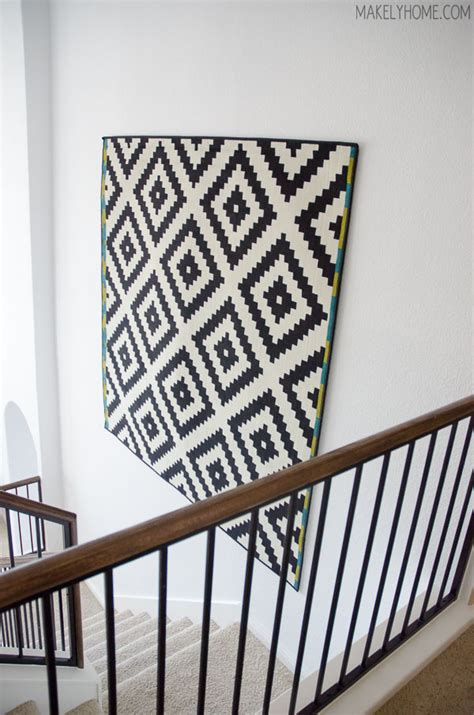how to hang a rug on wall the great wall of ikea makely