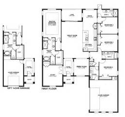 4 Bedroom House Plans Master On One Story House Plans Two Master Bedrooms Home Floor