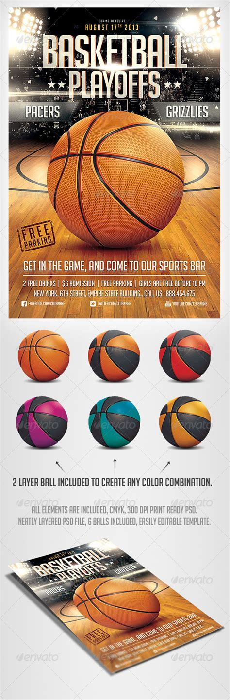 Basketball Game Flyer Template Basketball Games And Psd Templates Free Basketball Photoshop Templates