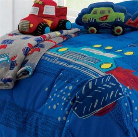 monster truck bed set monster trucks boys twin comforter set 6 piece bed in a