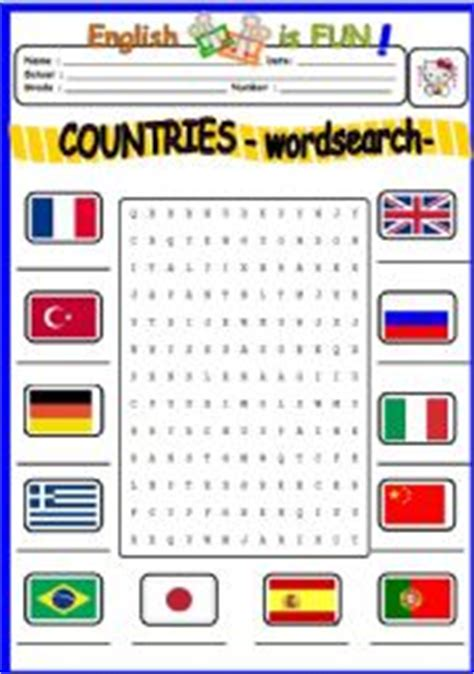 printable word search of spanish speaking countries pin word search countries on pinterest